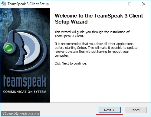 Установка TeamSpeak 3 Client